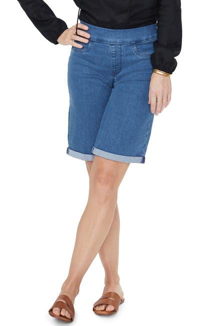 Image of NYDJ Pull-On Rolled Cuff Bermuda Shorts