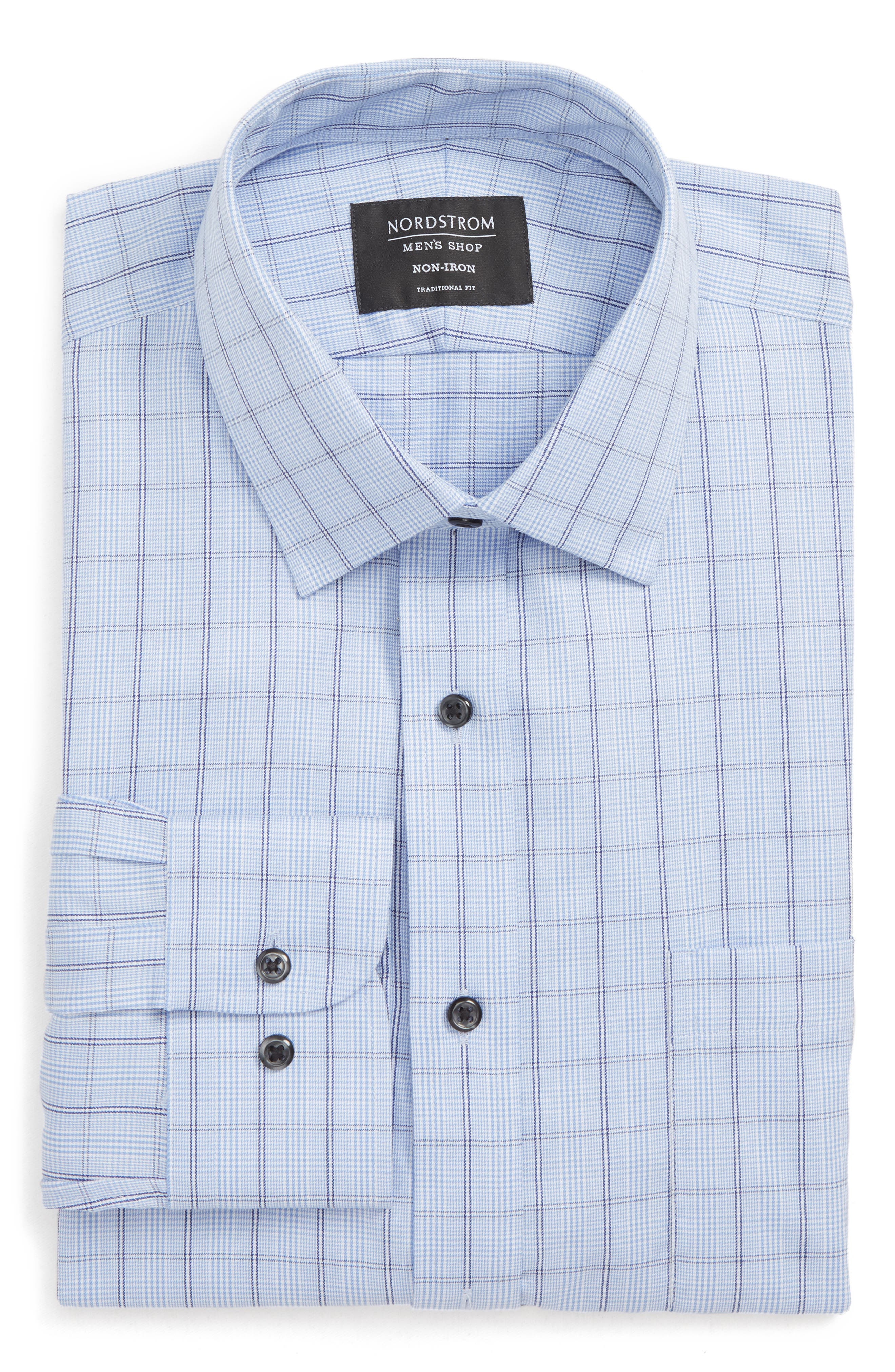 Traditional Fit Non-Iron Plaid Dress Shirt, Main, color, 450