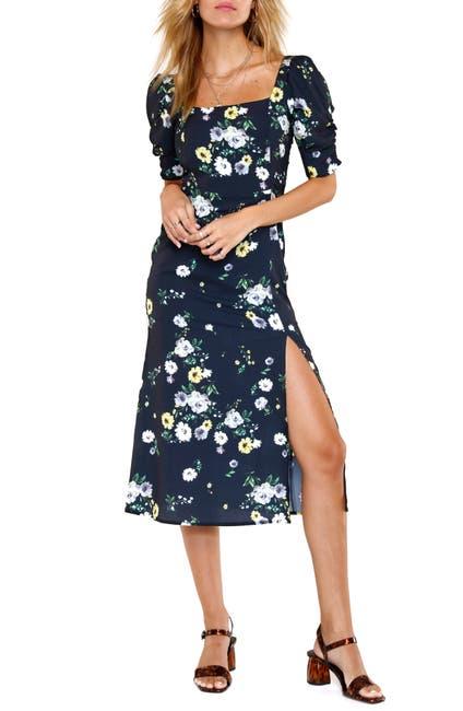 Image of Heartloom Alice Floral Square Neck Midi Dress