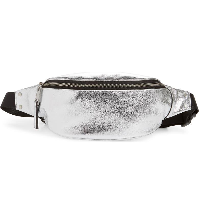 TREASURE & BOND Mason Metallic Leather Belt Bag, Main, color, 040