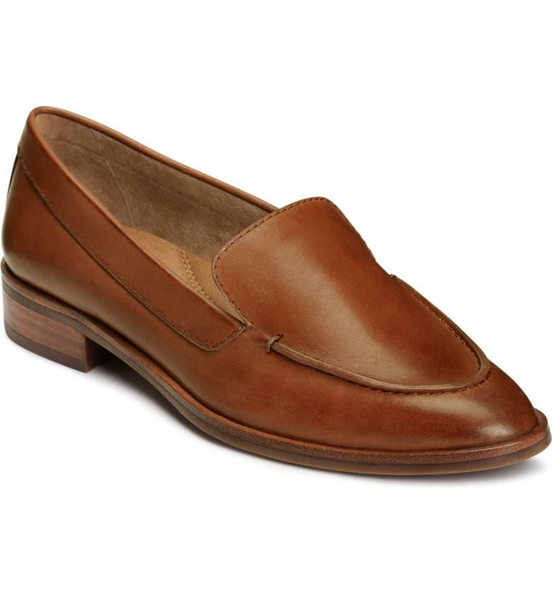 AEROSOLES East Side Loafer, Main, color, DK TAN LEATHER