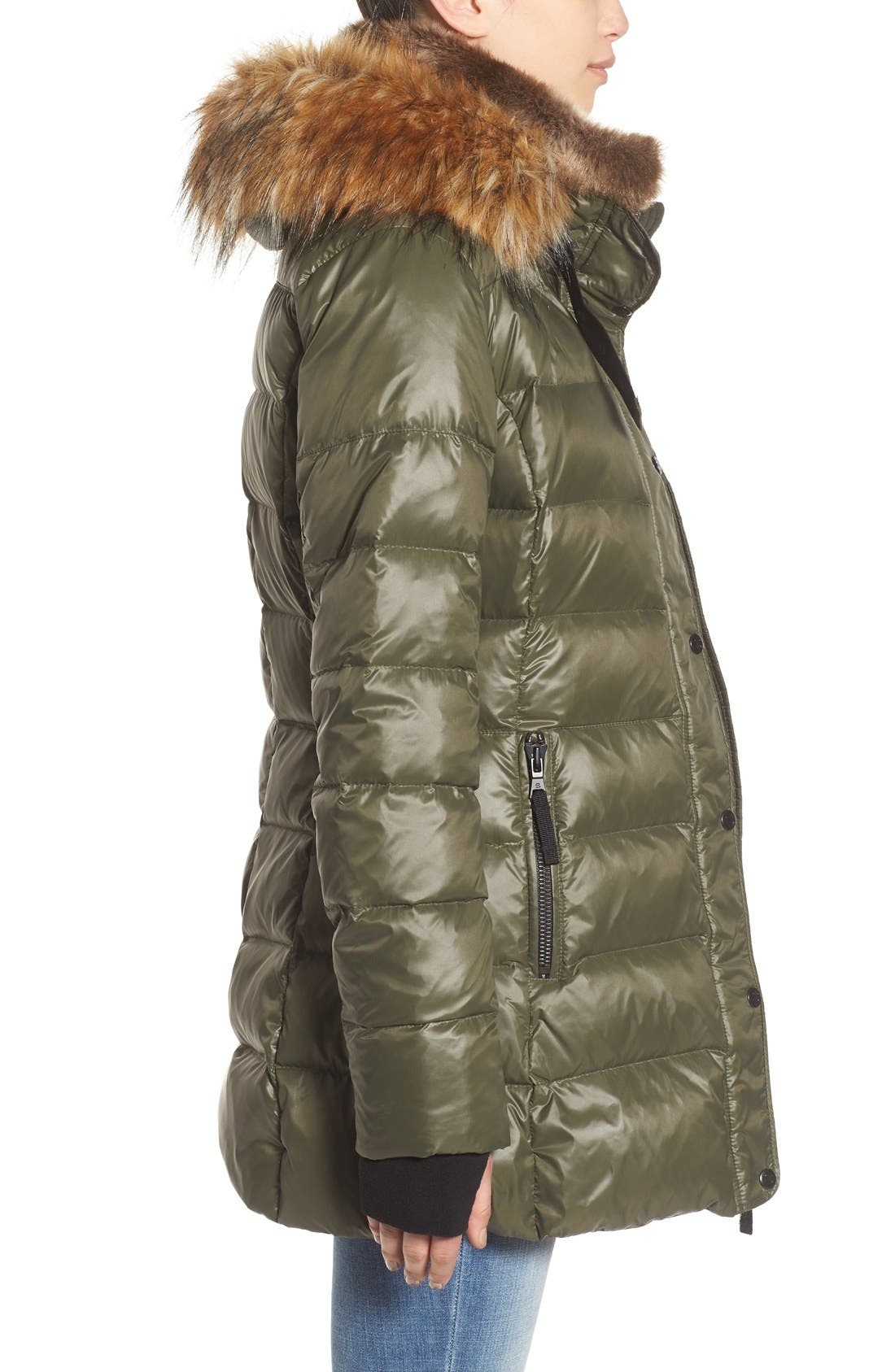 ,                             'Chelsea' Gloss Down Jacket with Removable Hood and Faux Fur Trim,                             Alternate thumbnail 10, color,                             330