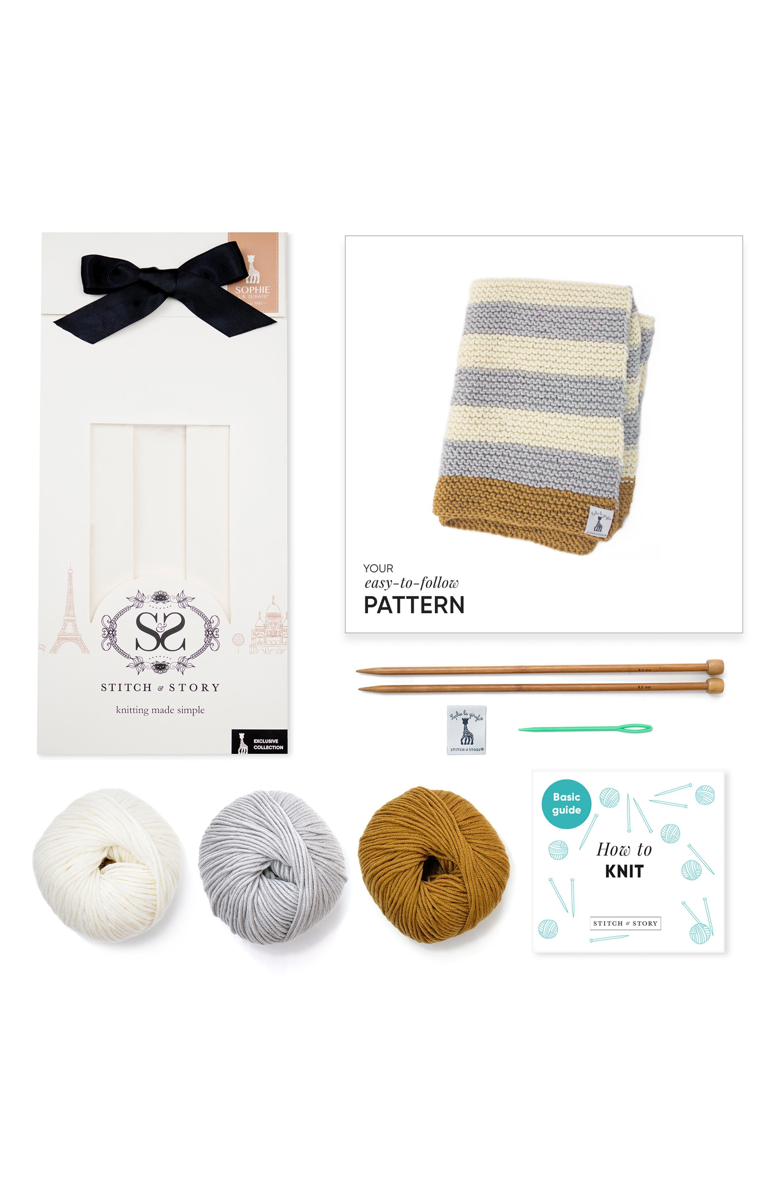 ,                             Blanket Knitting Kit,                             Alternate thumbnail 2, color,                             400