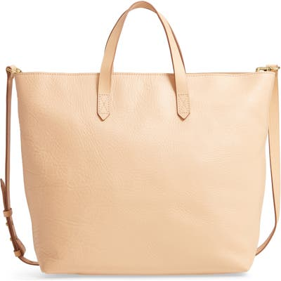 Madewell Zip Top Transport Leather Carryall - Beige