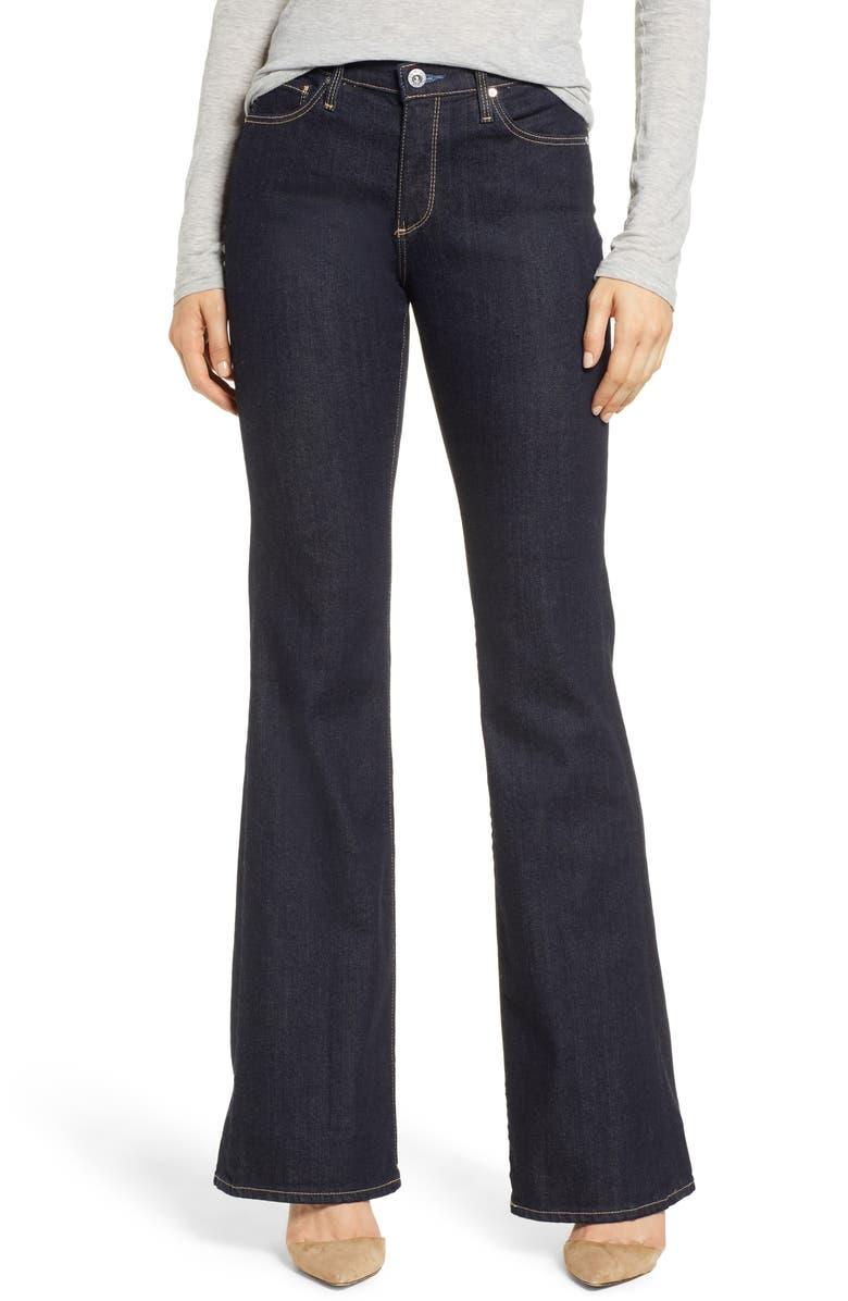 AG Angel Flare Jeans, Main, color, INDIGO SPRING