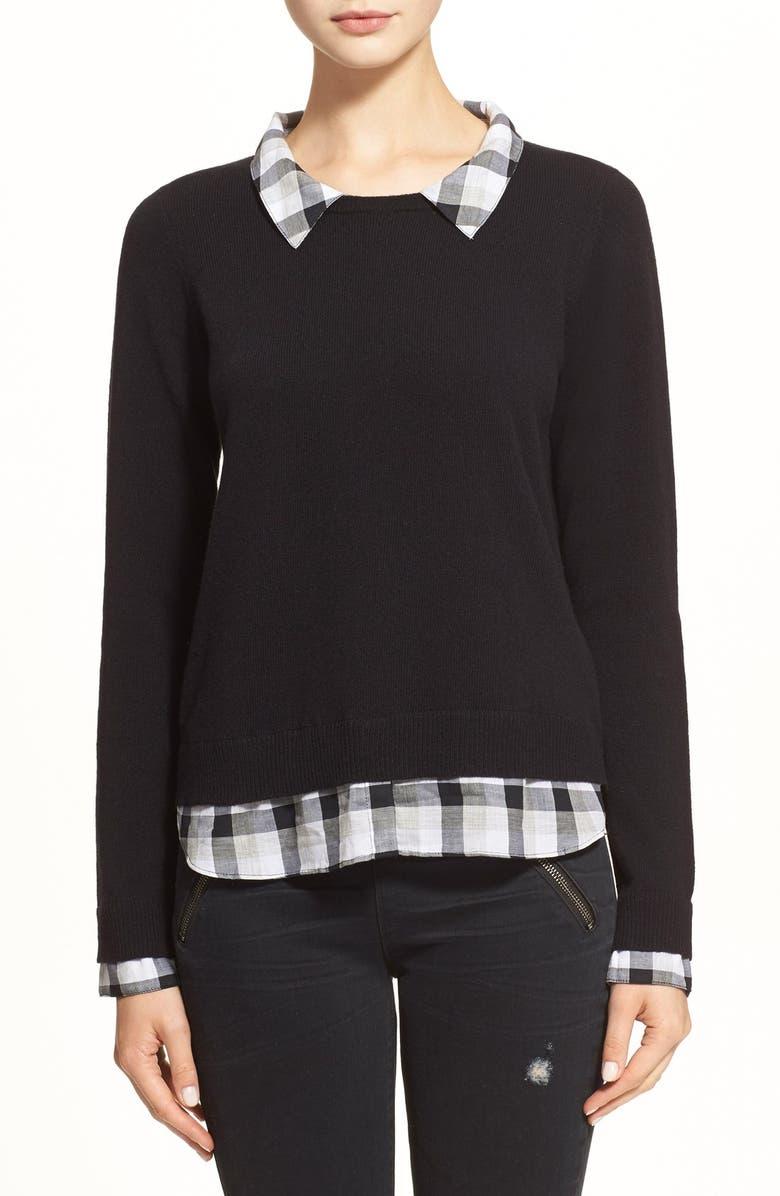 JOIE 'Zhen E' Wool & Cashmere Sweater, Main, color, 004