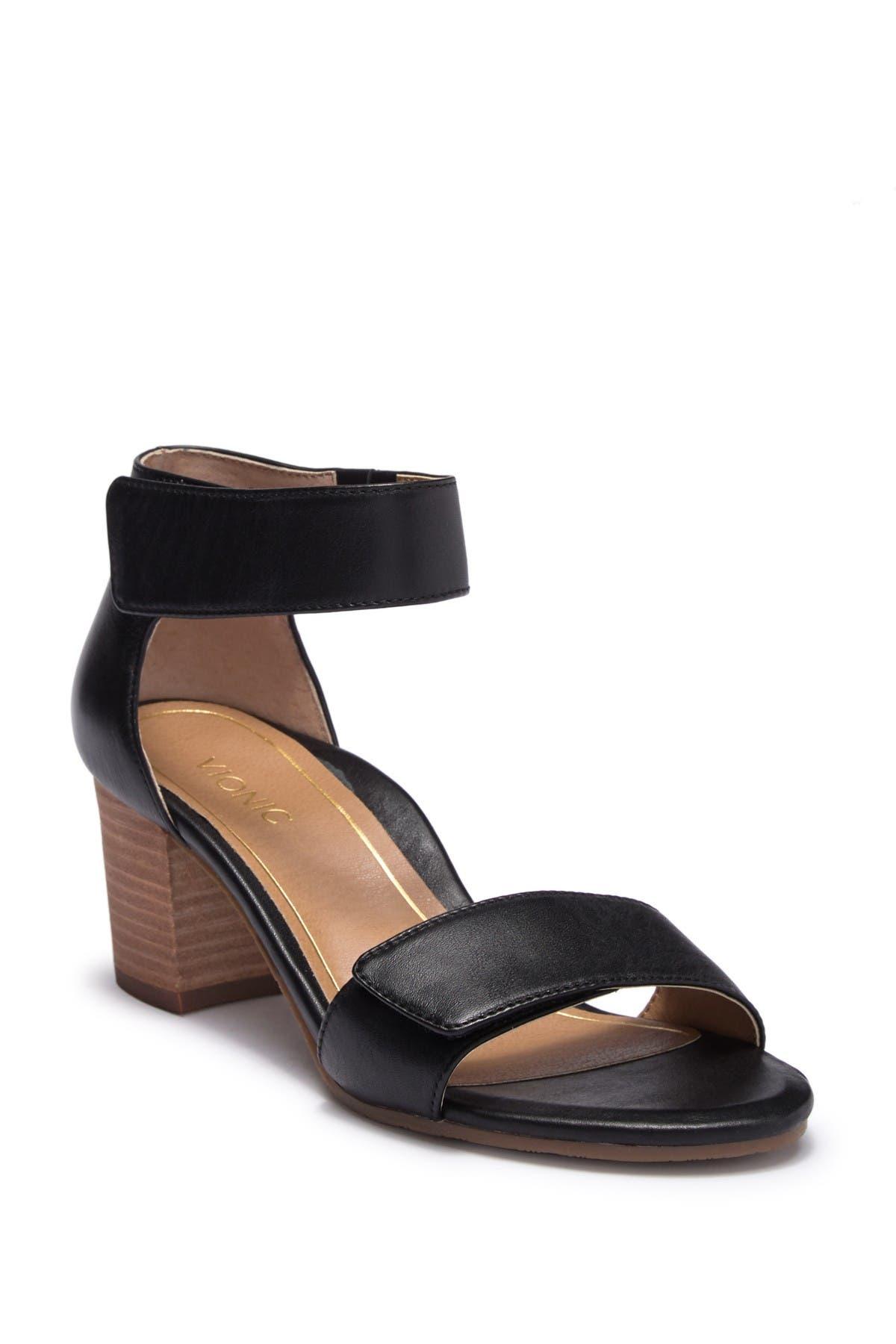 Vionic   Solana Block Heel Ankle Strap