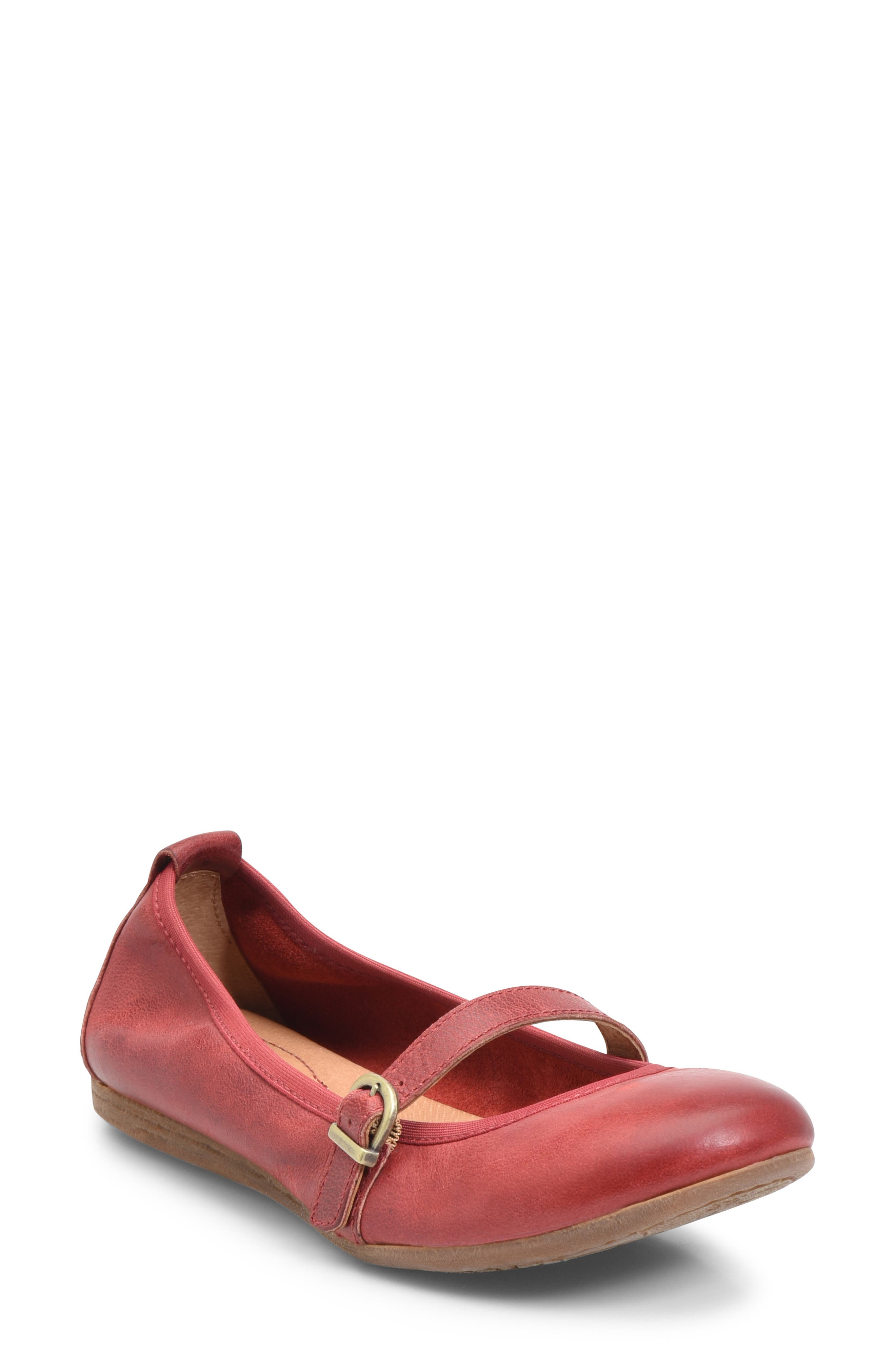 B?rn Curlew Mary Jane Ballet Flat, Red