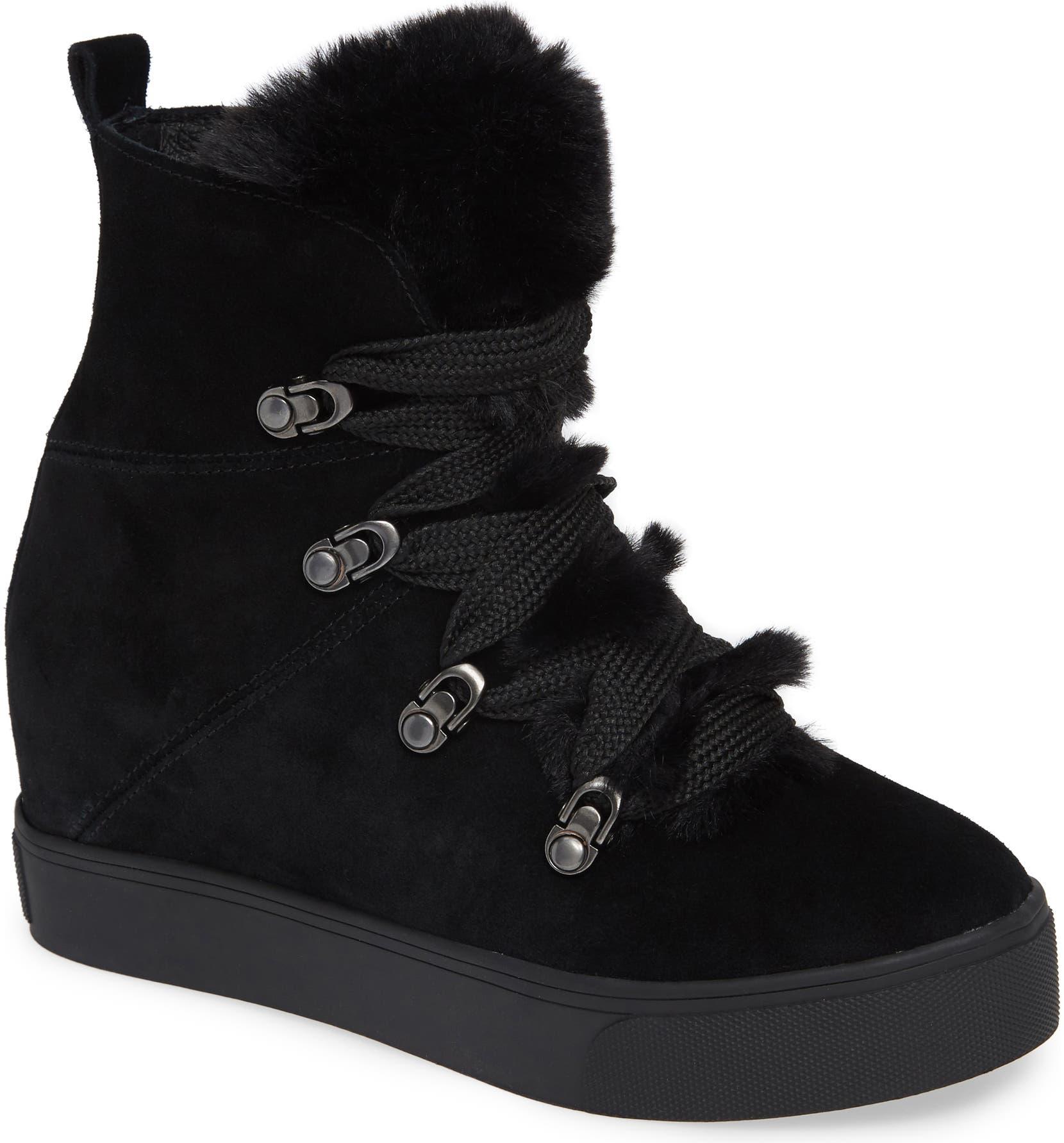 f37804c606e Whitney Faux Fur Trim High Top Sneaker