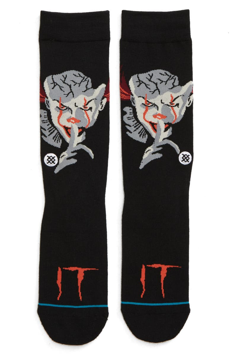 STANCE Pennywise Socks, Main, color, BLACK