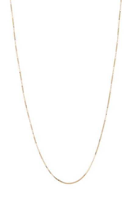 "Image of KARAT RUSH 14K Yellow Gold Shiny 18"" Box Chain Necklace"