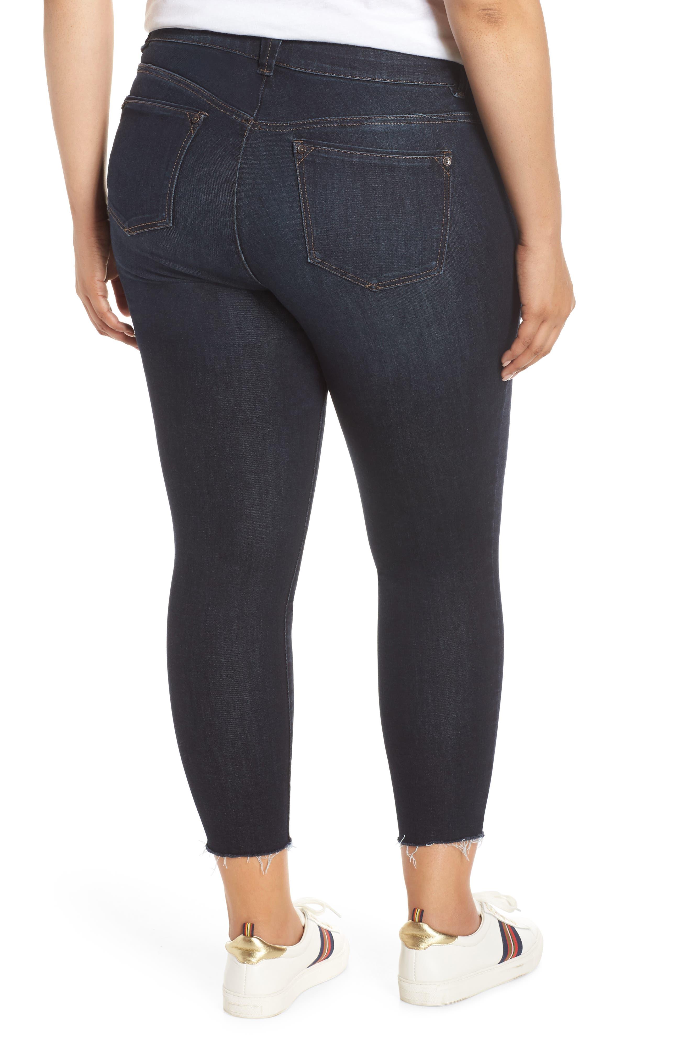 ,                             Ab-Solution High Waist Ankle Skinny Jeans,                             Alternate thumbnail 2, color,                             INDIGO