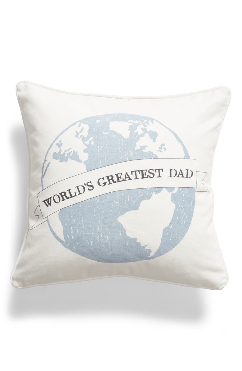 LEVTEX World's Greatest Dad Accent Pillow, Main, color, 900