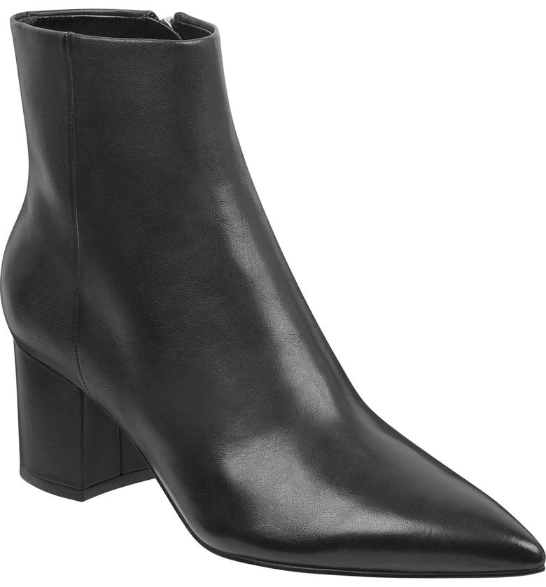 MARC FISHER LTD Jarli Bootie, Main, color, BLACK LEATHER