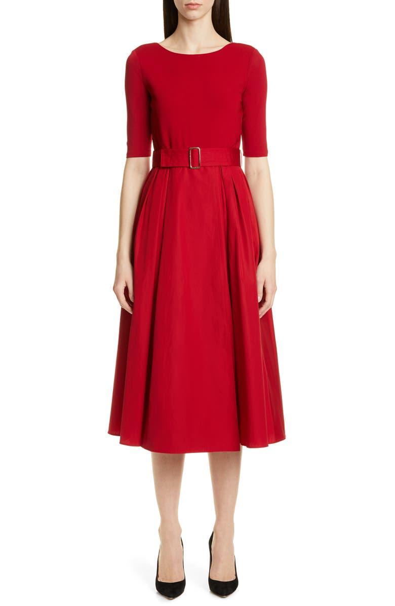 MAX MARA Affine Belted Midi Dress, Main, color, 600