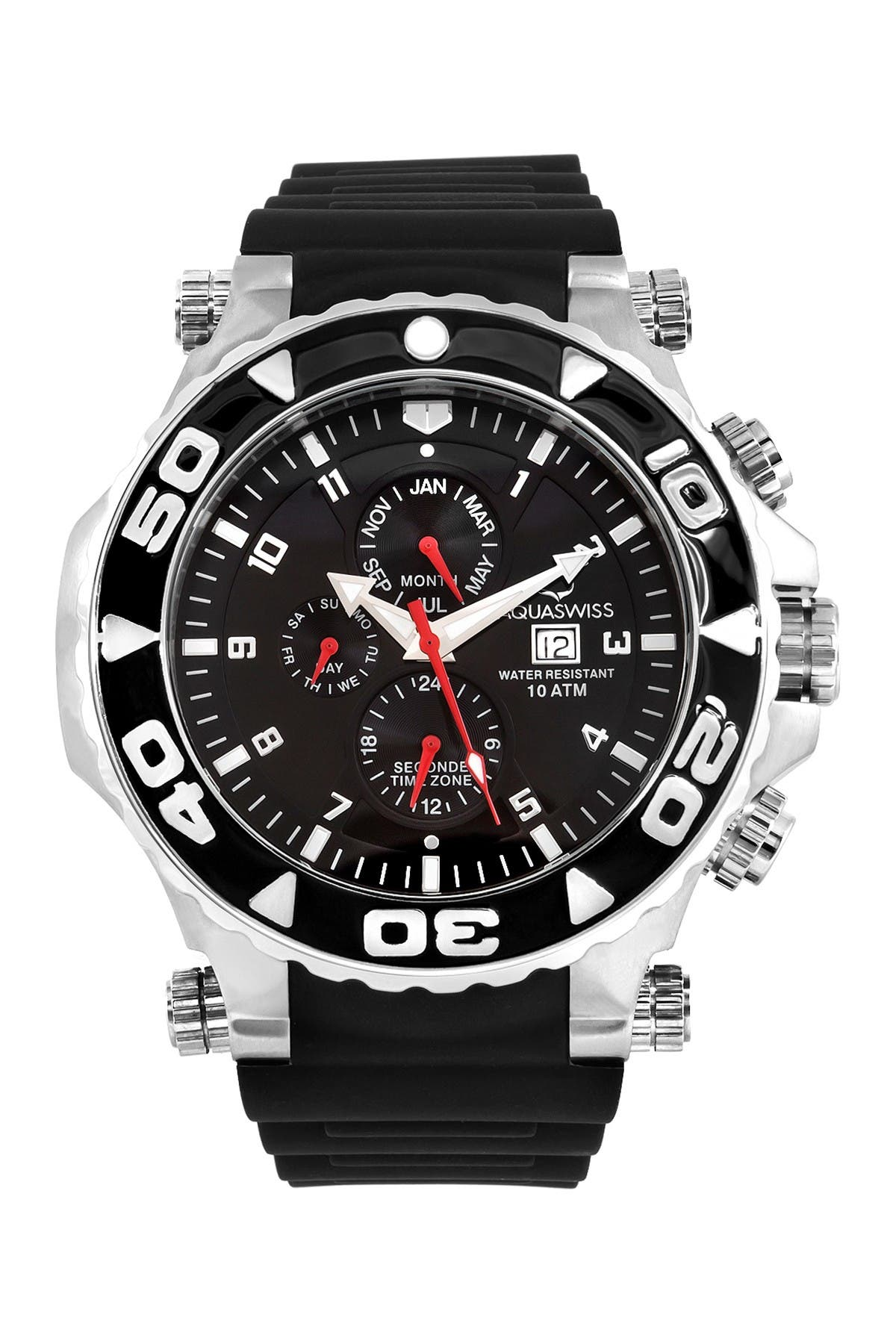 Image of Aquaswiss Men's Sail Silicone Strap Watch, 63mm