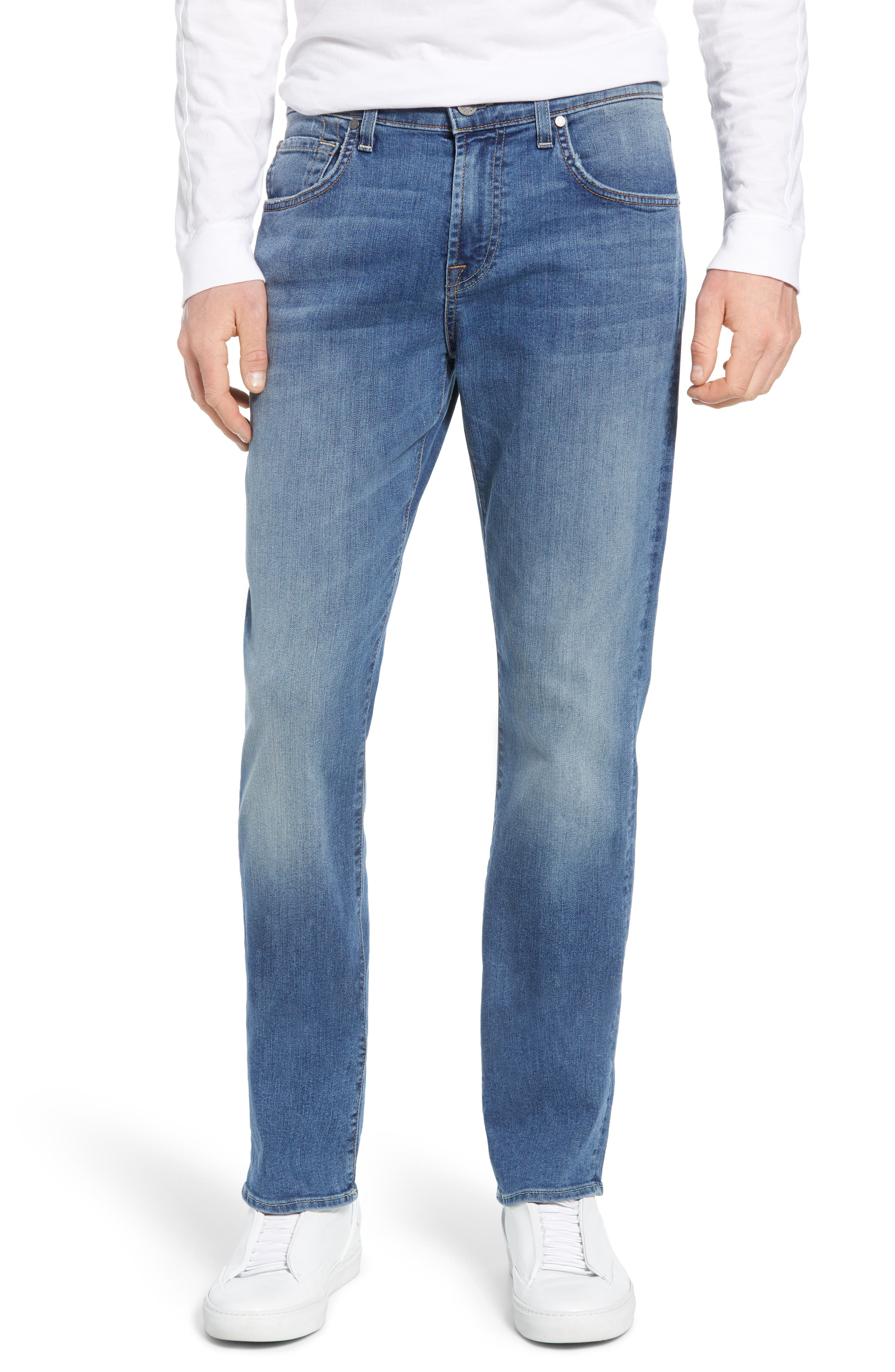 Image of 7 For All Mankind The Straight Slim Straight Leg Jeans