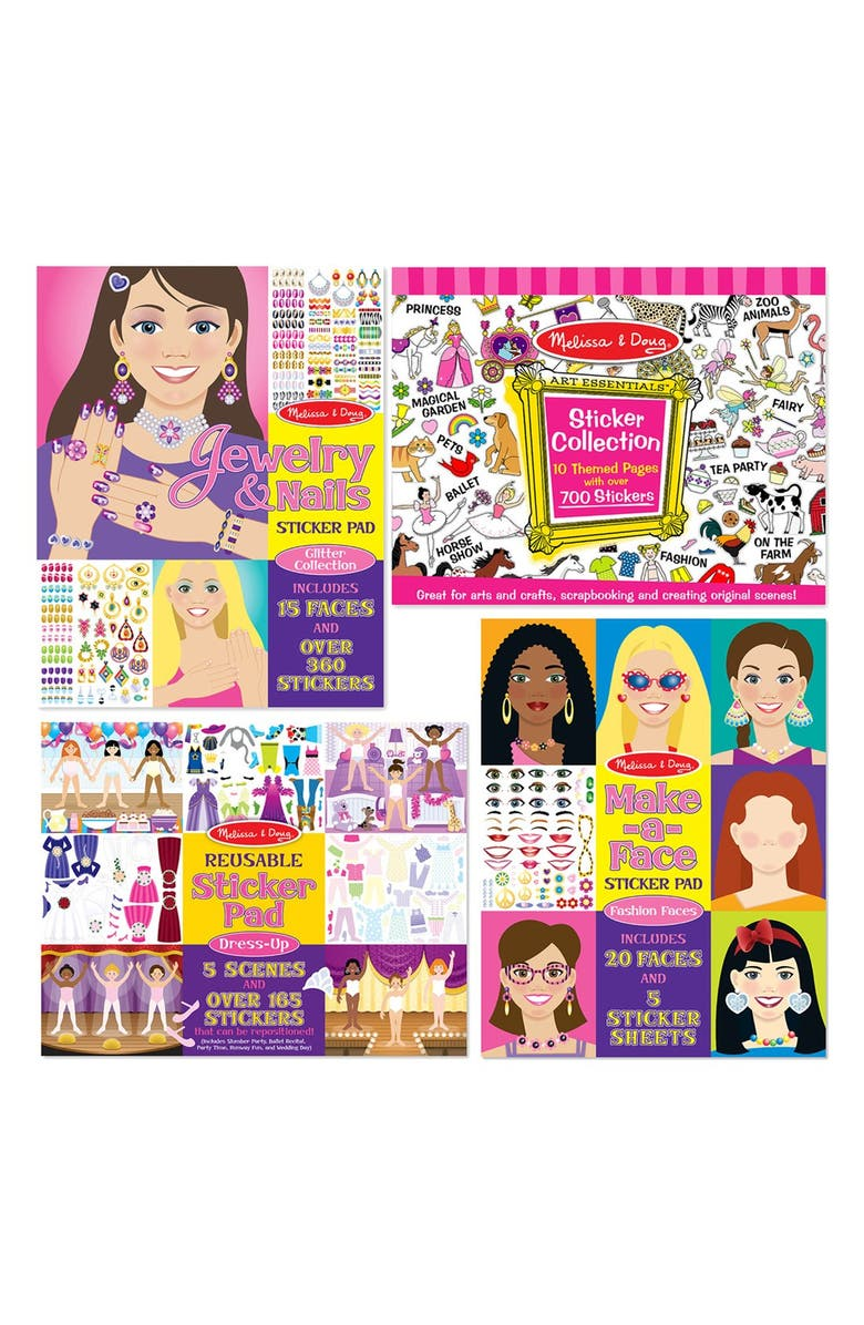 MELISSA & DOUG Sticker Bundle, Main, color, PINK