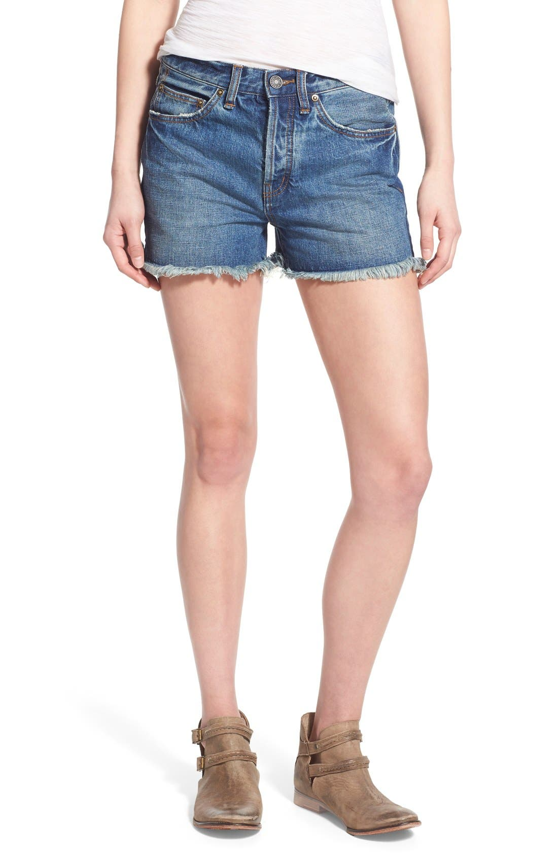 ,                             'Uptown' Denim Shorts,                             Main thumbnail 17, color,                             423