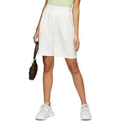 Topshop Clean Crepe Shorts, US - Ivory