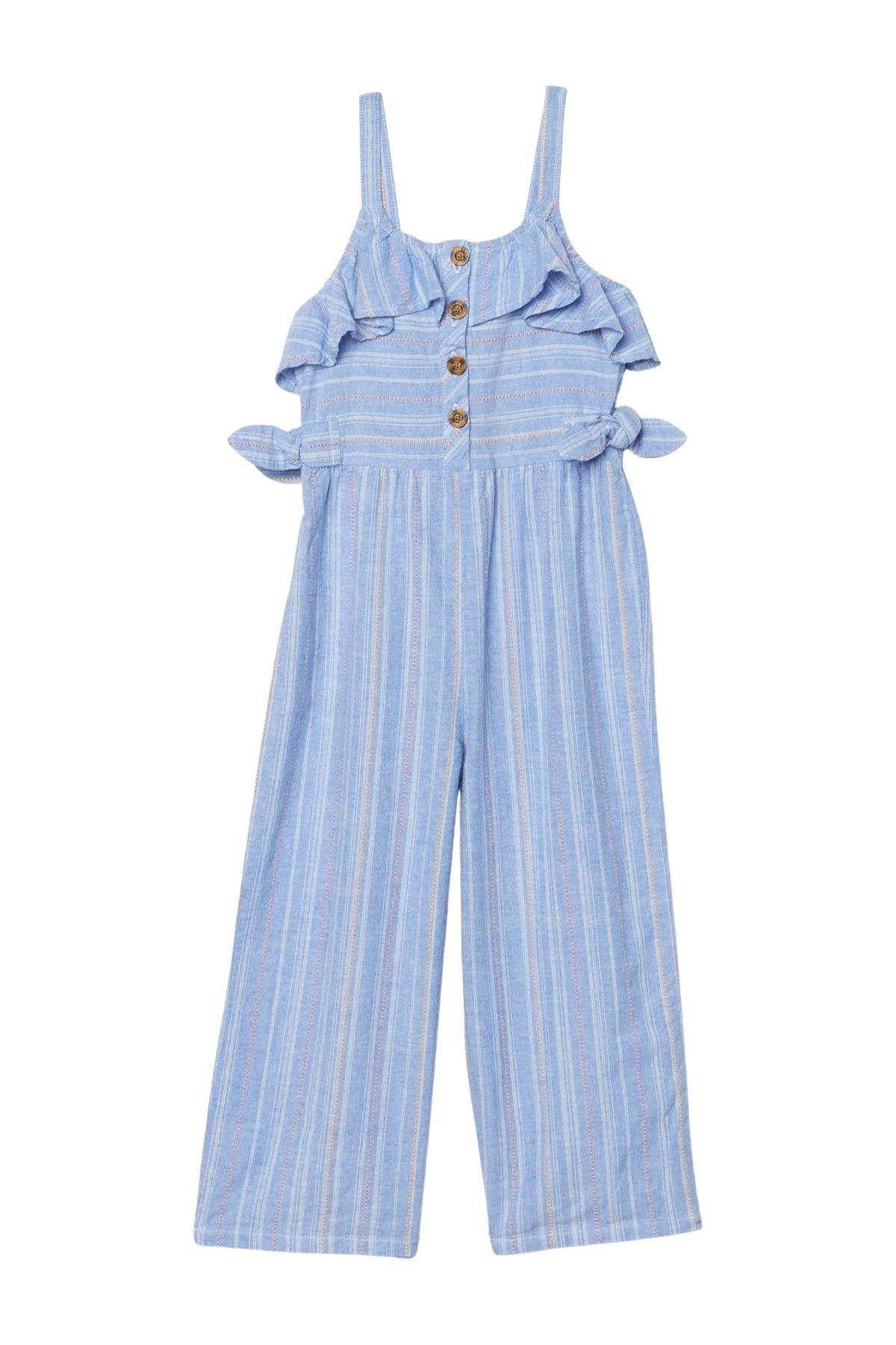 Image of Habitual Kids Stripe Cotton Jumpsuit