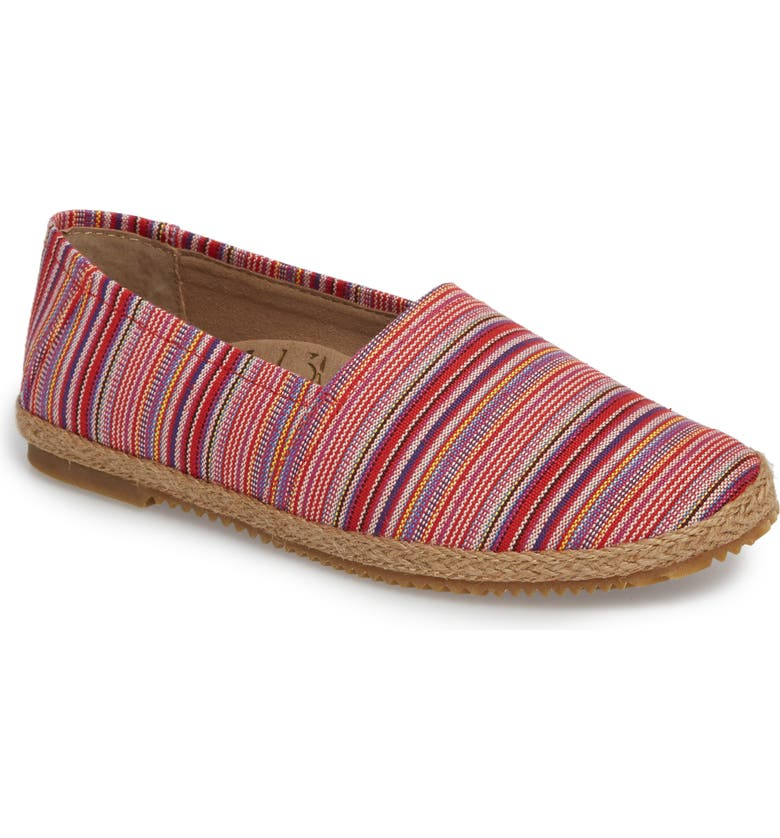 AETREX Kylie Slip-On, Main, color, PINK STRIPE FABRIC