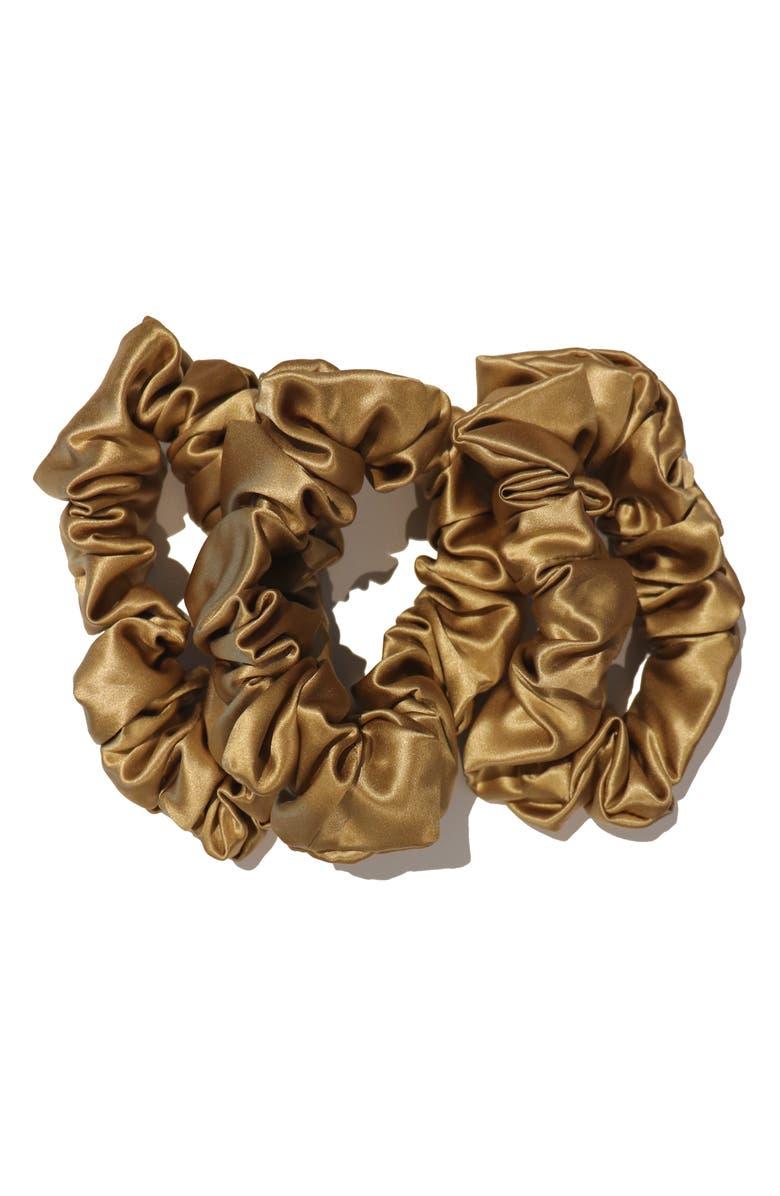 SLIP FOR BEAUTY SLEEP slip<sup>™</sup> for beauty sleep 3-Pack Slipsilk<sup>™</sup> Hair Ties, Main, color, GOLD