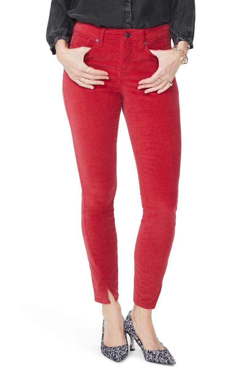 NYDJ Ami Twisted Seam Split Ankle Skinny Jeans, Main, color, GOOSEBERRY