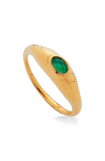 Monica Vinader DEIA GREEN ONYX RING