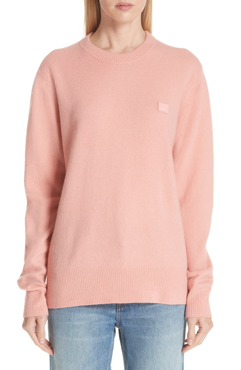 ACNE STUDIOS Nalon Wool Sweater, Main, color, PALE PINK