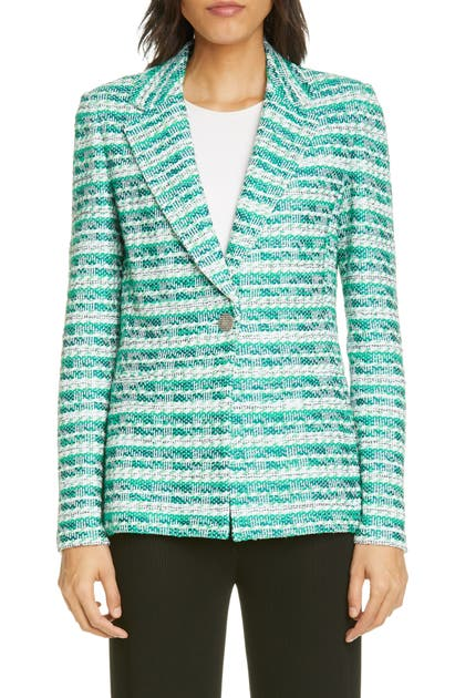 St. John TONAL TEXTURED TWEED KNIT JACKET