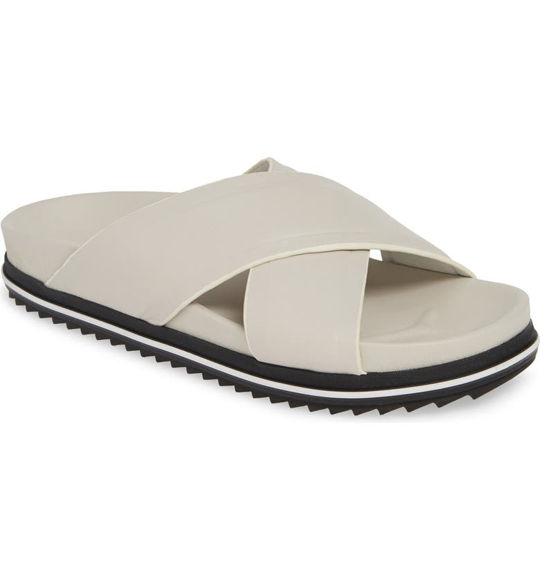 JSLIDES Olivia Slide Sandal, Main, color, IVORY LEATHER