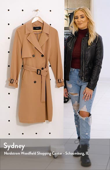 Donna Long Trench Coat, sales video thumbnail