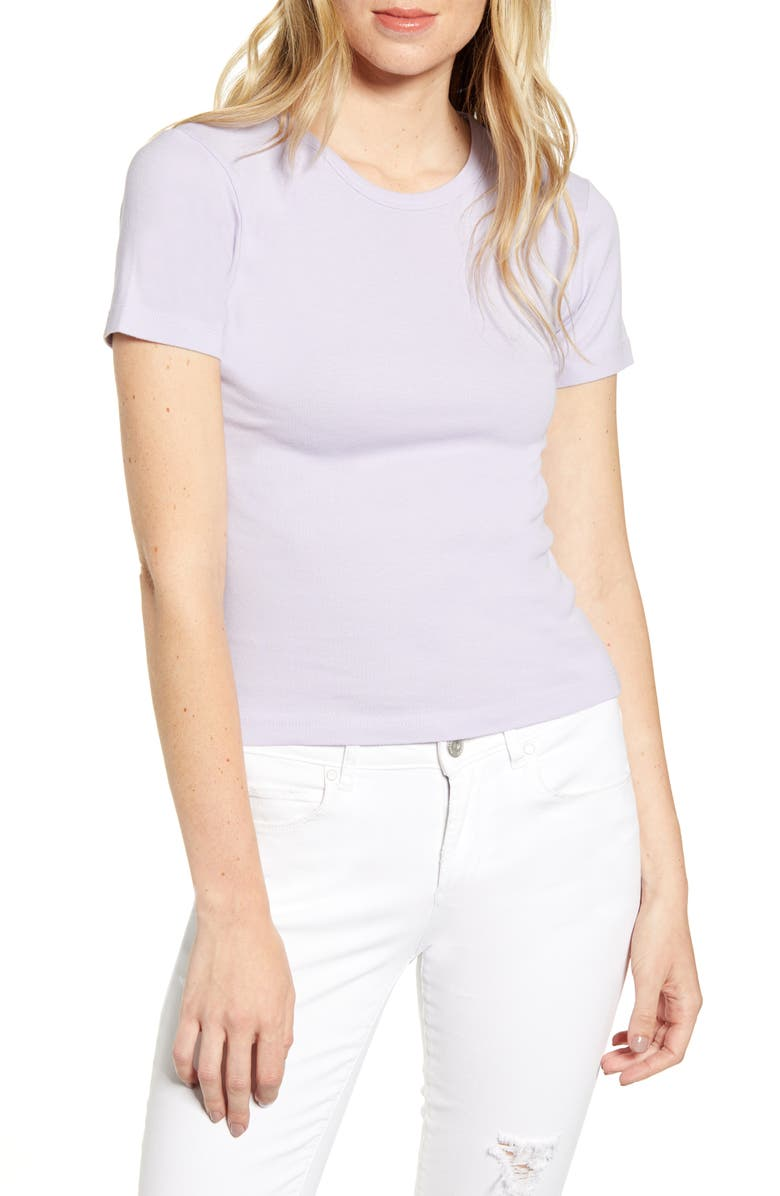 BDG Urban Outfitters Ribbed Baby Tee, Main, color, 500