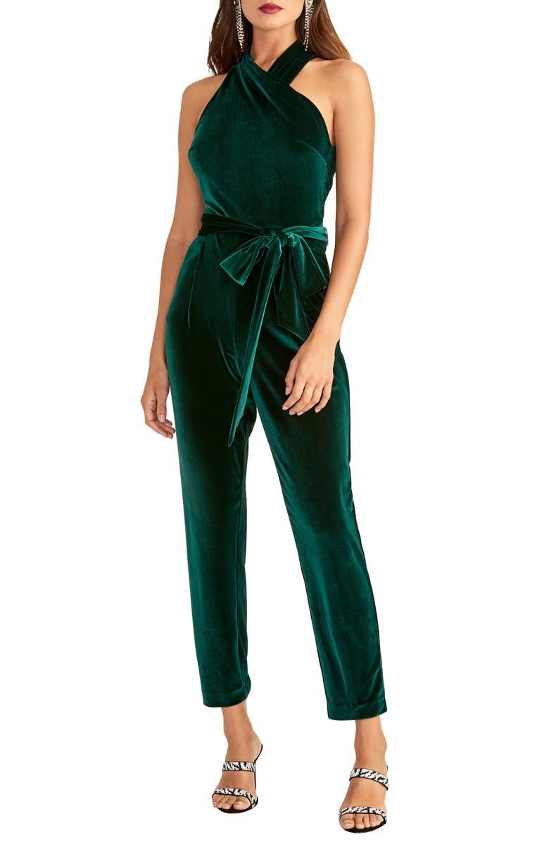 RACHEL RACHEL ROY Harland Velvet Jumpsuit, Main, color, 311