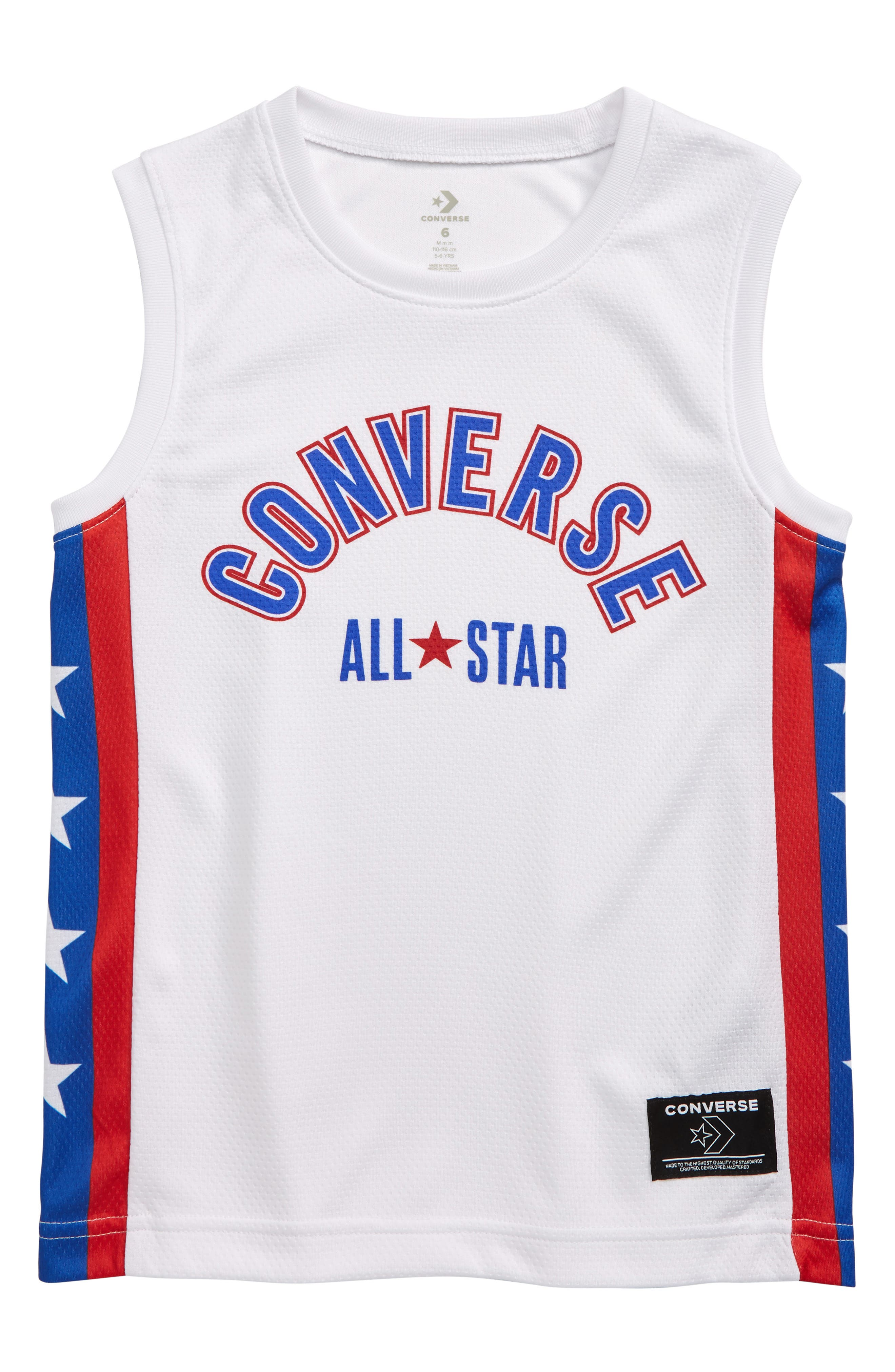 Boys Converse Star Stripe Mesh Jersey Shirt