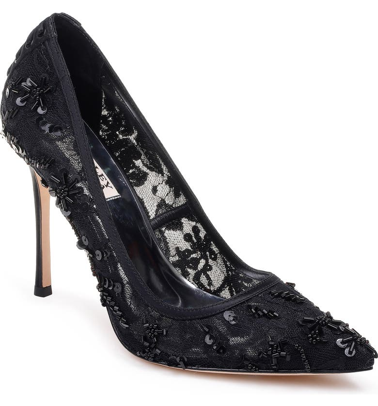 BADGLEY MISCHKA COLLECTION Badgley Mischka Veronica Lace Pump, Main, color, 008