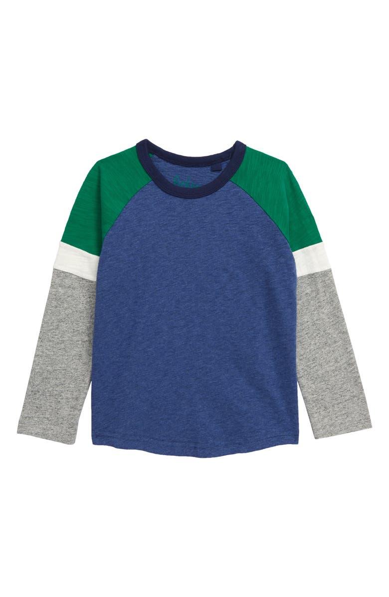 MINI BODEN Colorblock Long Sleeve T-Shirt, Main, color, 424
