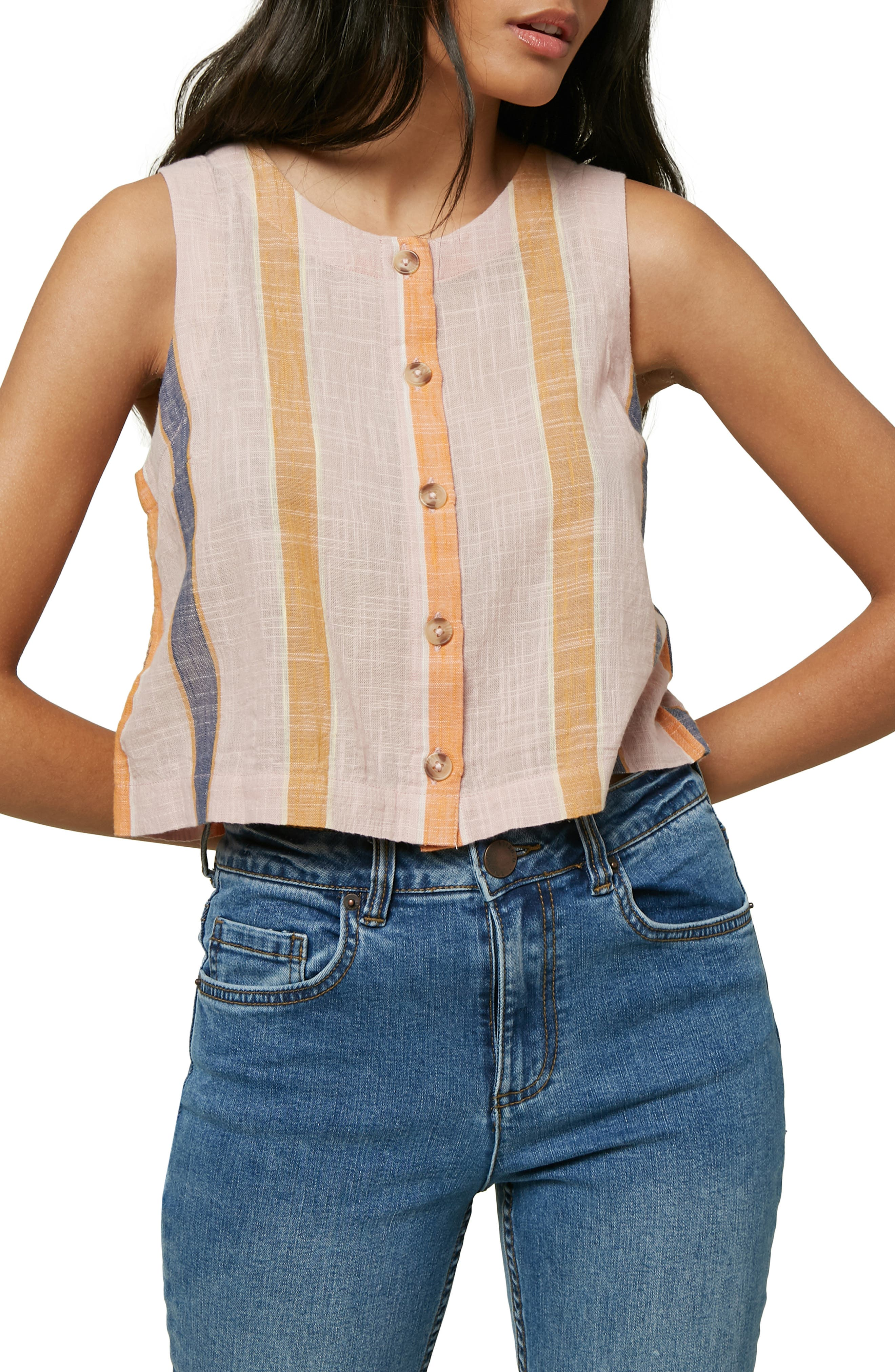 Image of O'Neill Archer Stripe Woven Tank