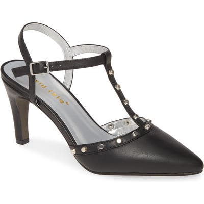 David Tate Valencia Studded Pointy Toe Pump, Black