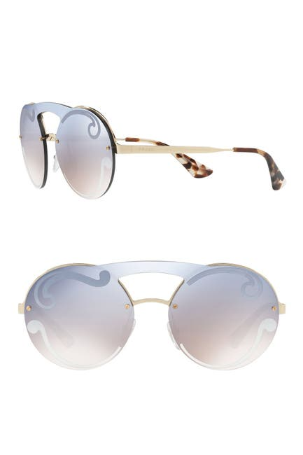 Image of Prada 36mm Round Sunglasses