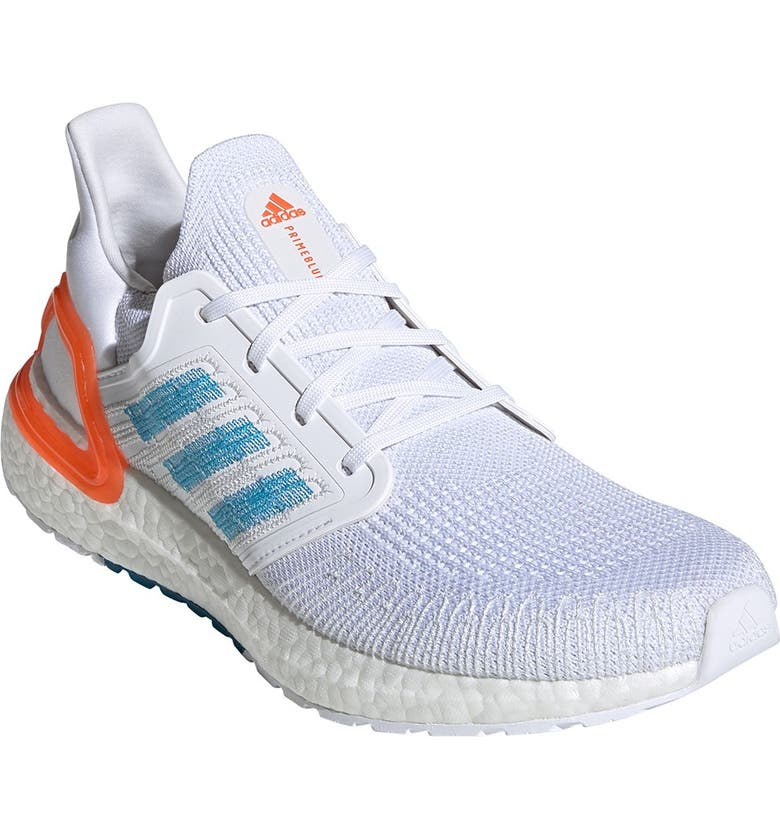 ADIDAS Ultraboost 20 PrimeBlue Sneaker, Main, color, FTWR WHITE