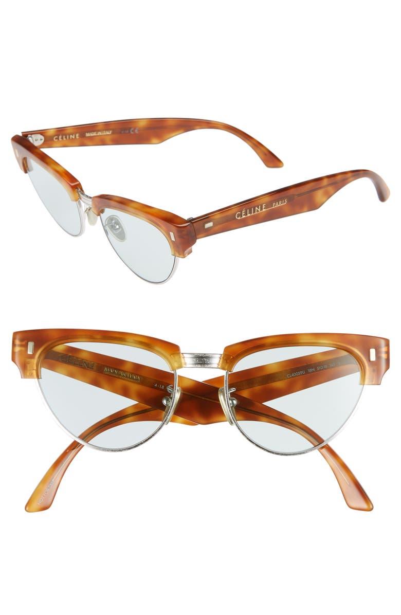 CELINE 51mm Modified Cat Eye Sunglasses, Main, color, 239