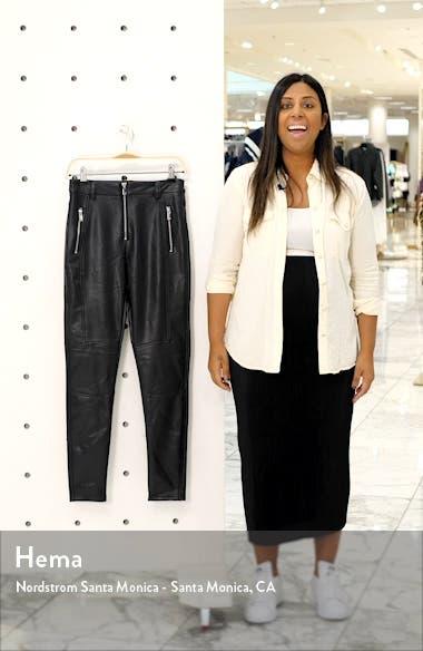 Tammy Faux Leather Biker Pants, sales video thumbnail