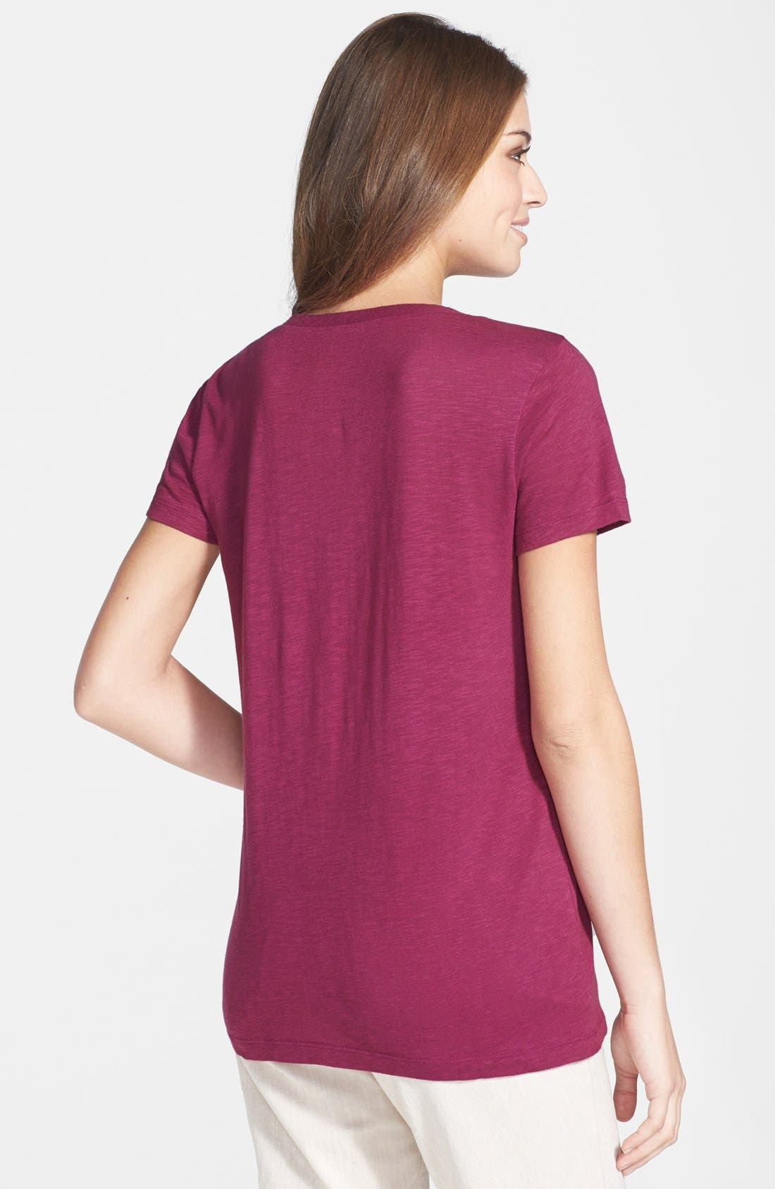 ,                             Relaxed Slub Knit U-Neck Tee,                             Alternate thumbnail 329, color,                             501