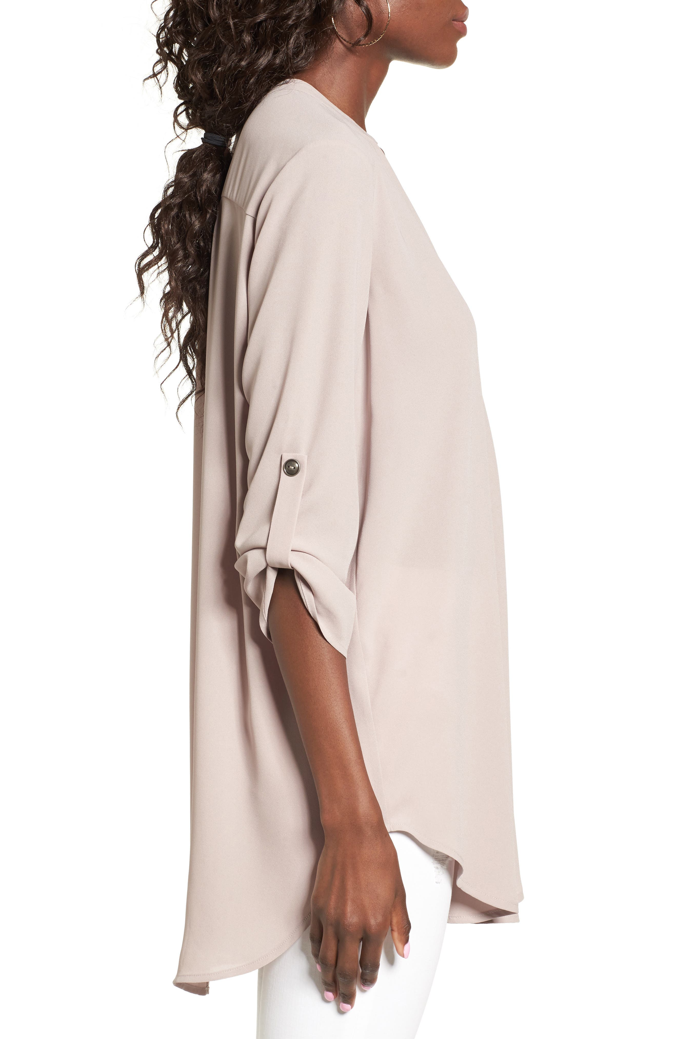 ,                             Perfect Roll Tab Sleeve Tunic,                             Alternate thumbnail 204, color,                             023