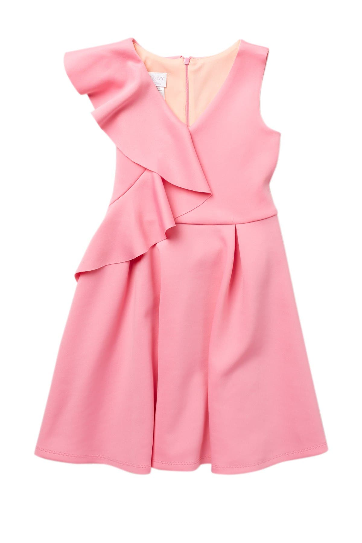 Image of GERSON & GERSON Side Ruffle Skater Dress