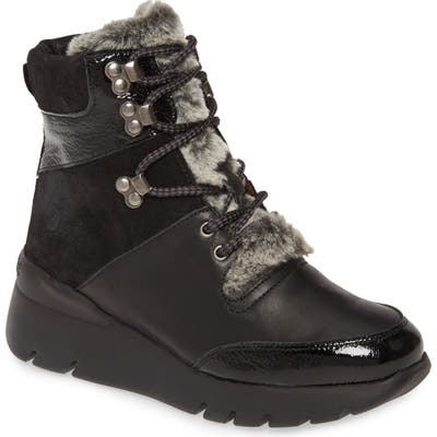Hispanitas Raevyn Faux Fur Trim Boot - Black