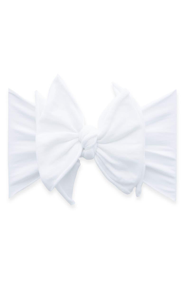 BABY BLING Fab-Bow-Lous Headband, Main, color, WHITE