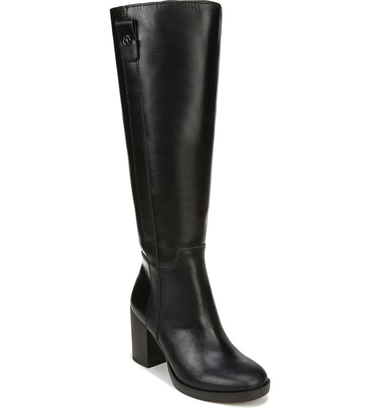 FRANCO SARTO Kendra Knee High Boot, Main, color, BLACK LEATHER